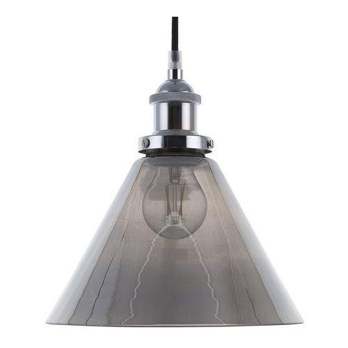 Beliani Lampa wisząca szklana/chromowana enza l