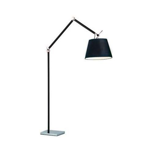 Stojąca lampa podłogowa zyta ml2300-l bk abażurowa oprawa na regulowanym ramieniu aty czarna marki Azzardo