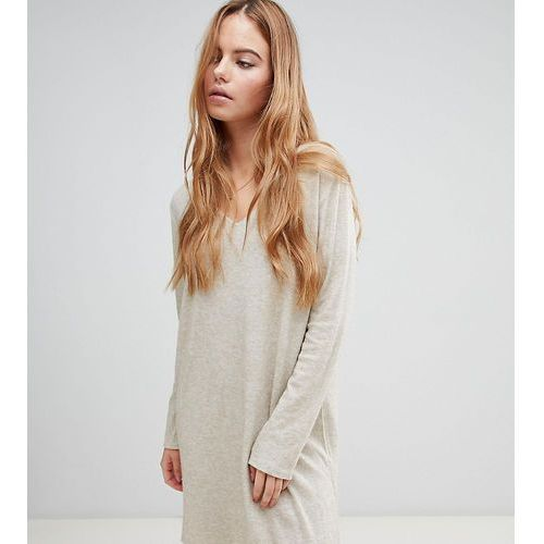 Boohoo basic knitted swing dress in beige - Beige