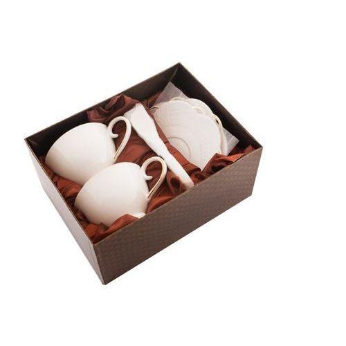 Fusaichi pegasus Zestaw 2 filiżanki białe do kawy herbaty porcelana