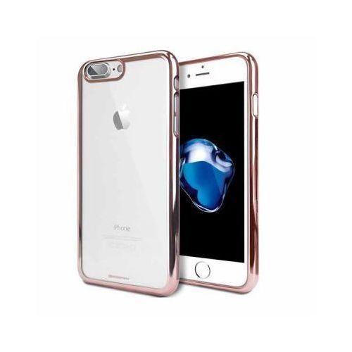 Futerał back case jelly mercury ring 2 iphone 7 plus różowo złoty marki Goospery