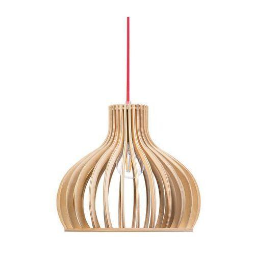 Beliani Lampa wisząca jasne drewno malone