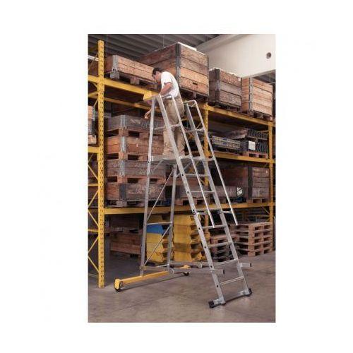 B2b partner Składana aluminiowa drabina platformowa - 5 stopni, 1,3 m (4003866412020)