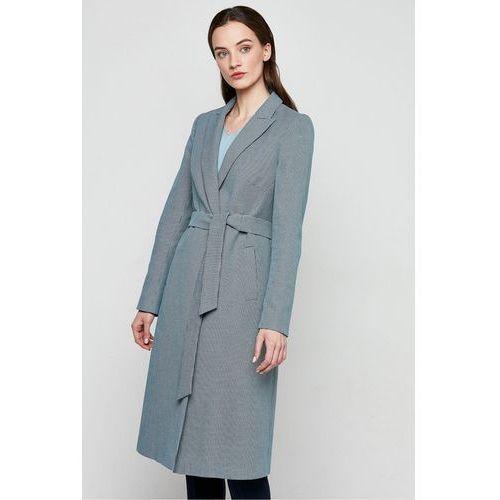 Płaszcz w kratkę - Patrizia Aryton, kolor zielony