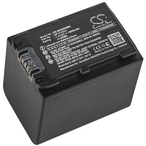 Sony fdr-ax33 / np-fv50a 1600mah 11.68wh li-ion 7.3v () marki Cameron sino