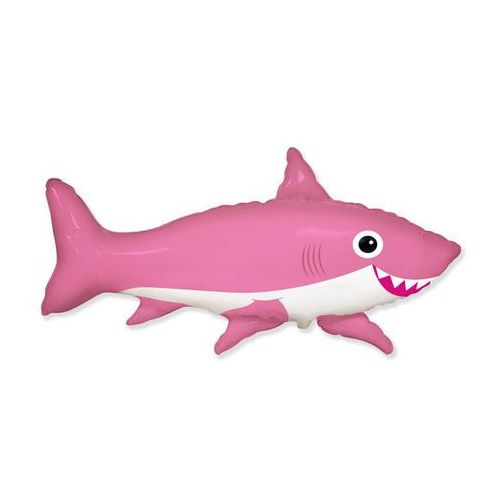 Flexmetal balloons Balon foliowy uśmiechnięty rekin różowy - 60 cm - 1 szt. (5902973121049)