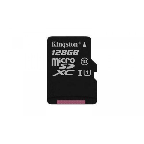 KINGSTON microSD 128GB Class10 Canvas Select 80/10MB/s + adapter SD (SDCS/128GB) >> PROMOCJE - NEORATY - SZYBKA WYSYŁKA - DARMOWY TRANSPORT OD 99 ZŁ!