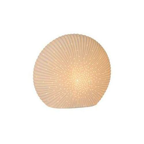 Lampa stołowa Lucide SHELLY Biały, 1-punktowy - Dworek/śródziemnomorski - Obszar wewnętrzny - SHELLY - Czas dostawy: od 6-10 dni roboczych (5411212133984)