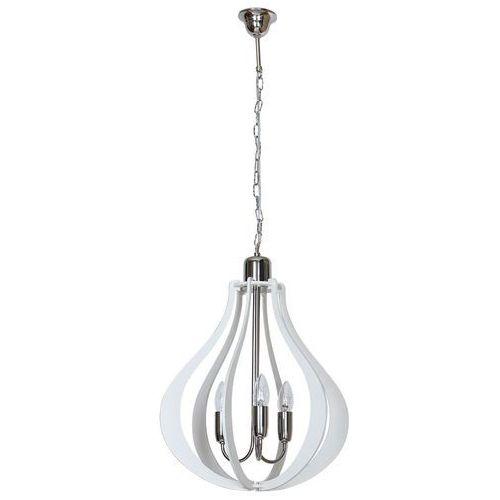 Aldex Jura Owal Natural 877E lampa wisząca zwis 3x40W E14 biały, ADX 877E