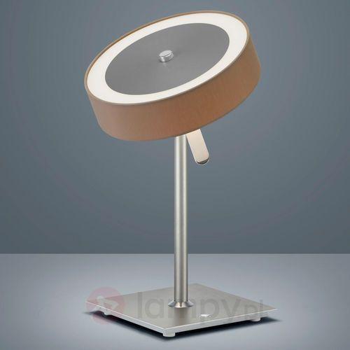 bora lampa stołowa led nikiel matowy, 1-punktowy - klasyczny - obszar wewnętrzny - bora - czas dostawy: od 4-8 dni roboczych marki Helestra