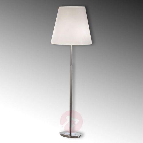 Orion Lilly – lampa stojąca z materiałowym abażurem