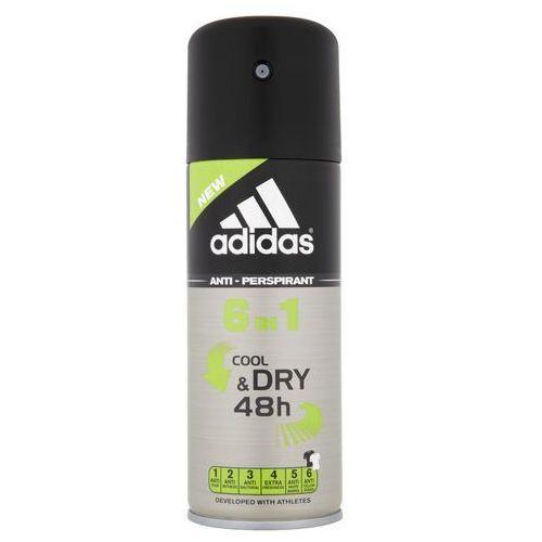 Coty Dezodorant adidas 6in1 cool & dry dla mężczyzn w sprayu 150 ml