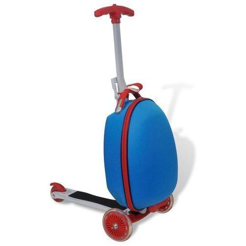 vidaXL Hulajnoga dla dzieci z kuferkiem, niebieska