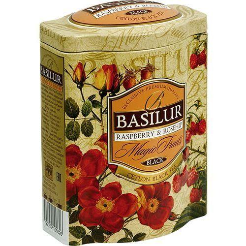 70231 100g malina i dzika róża herbata czarna liściasta puszka, marki Basilur