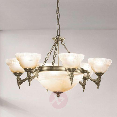 Eglo 85858 - lampa wisząca żyrandol stylowy marbella 9xe14/60w brąz