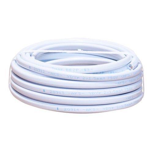 Kabel instalacyjny ydyp 2 x 1,5 mm2 450/750 v 5 m marki Aks zielonka