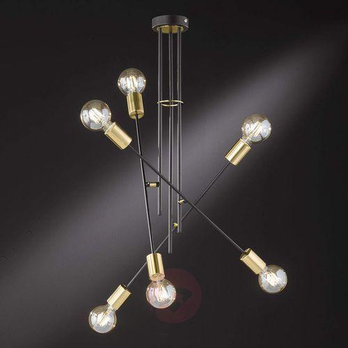 Wofi Tandil - 6-punktowa lampa sufitowa, złote akcenty