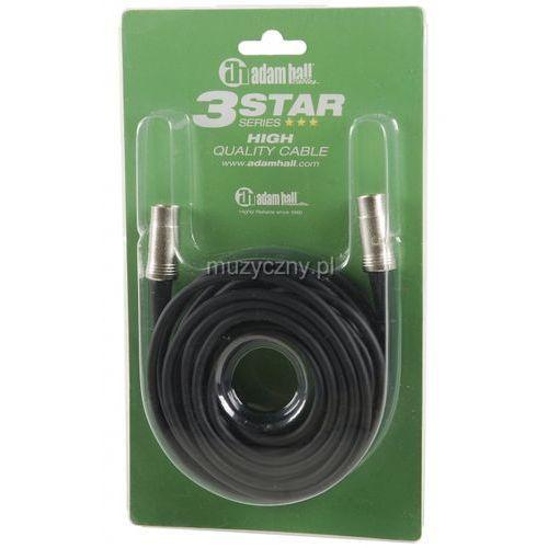 Adam hall  k3 midi 0600 blk-5 kabel midi 6m, (czarny, metalowe złącza)