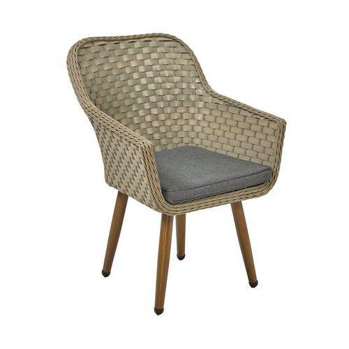 Fotel ogrodowy kordoba technorattanowy szary marki Telehit garden