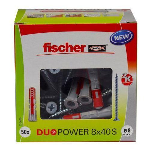 Fischer Kołek uniwersalny duopower 8 x 40 z wkrętem 50 szt. (4048962239898)