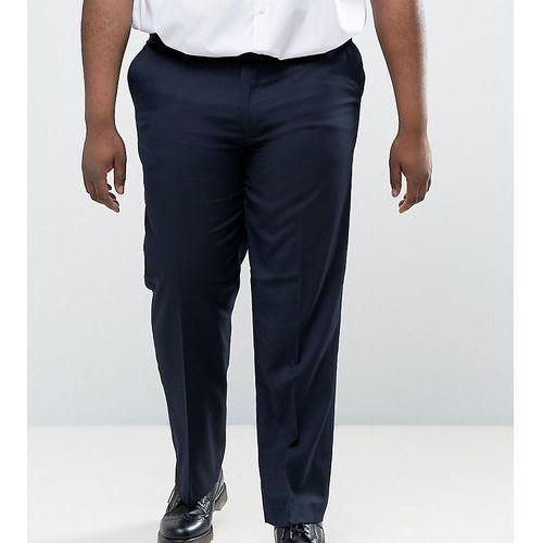 Duke king size smart trousers in navy - navy