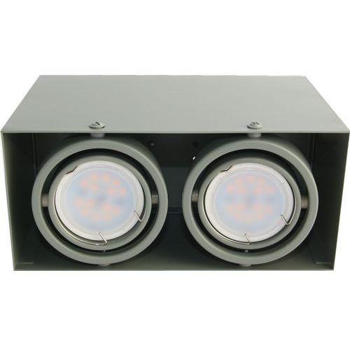 Milagro Plafon oprawa natynkowa lampa sufitowa downlight blocco 2x7w led biały 478 (5907377244783)