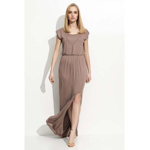 0d9484d384 Cappuccino Maxi Sukienka z Rozcięciem na Boku