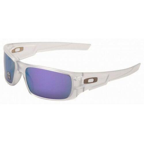 Okulary Oakley Crankshaft Matte Clear Violet Iridium Polarized OO9239-0960, kolor fioletowy