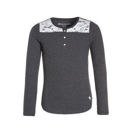 Abercrombie & Fitch HENLEY Bluzka z długim rękawem grey, kolor szary