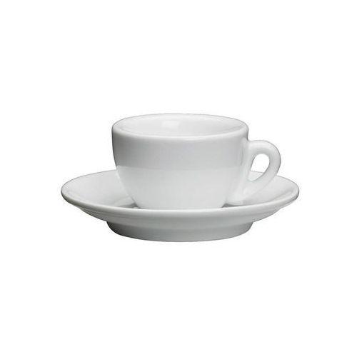Cilio Filiżanka do espresso, ze spodkiem, 0,05 l, biała