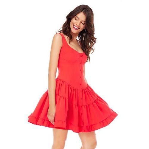 Sugarfree Sukienka costa calma w kolorze czerwonym
