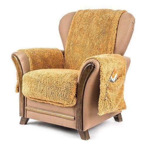 narzuta na fotel z kieszeniami brązowy, 65 x 150 cm, 2 szt. 40 x 80 cm marki 4home