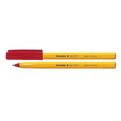 Długopis SCHNEIDER Tops 505, F, czerwony (4004675004543)