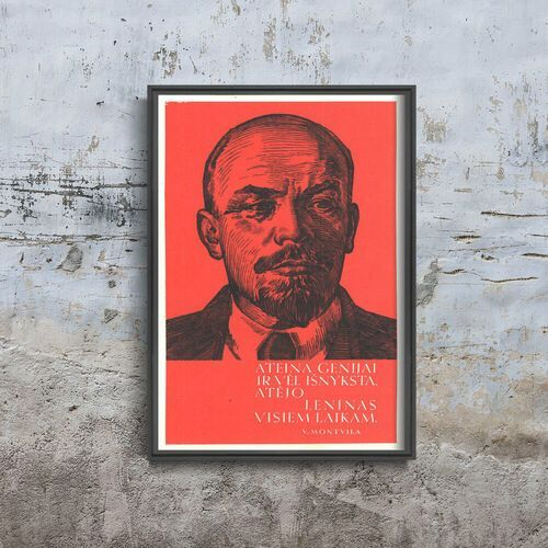 Plakat retro do salonu plakat retro do salonu plakat radziecki na litwie marki Vintageposteria.pl