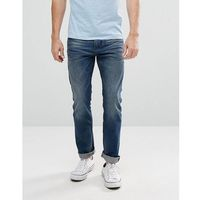 Tom tailor slim fit jeans in mid wash blue - blue