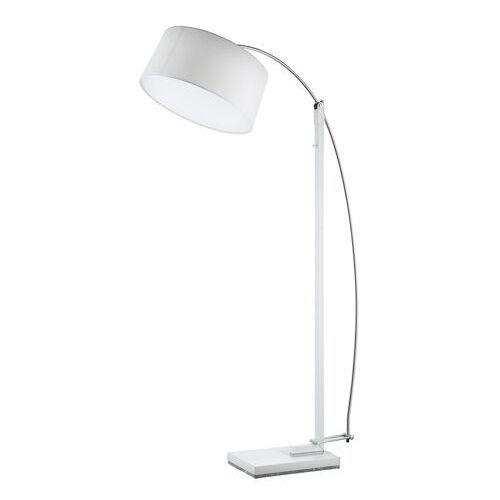 Biała lampa podłogowa z dużym kloszem Edgar DeMarkt Megapolis (408042703) (4250369183951)