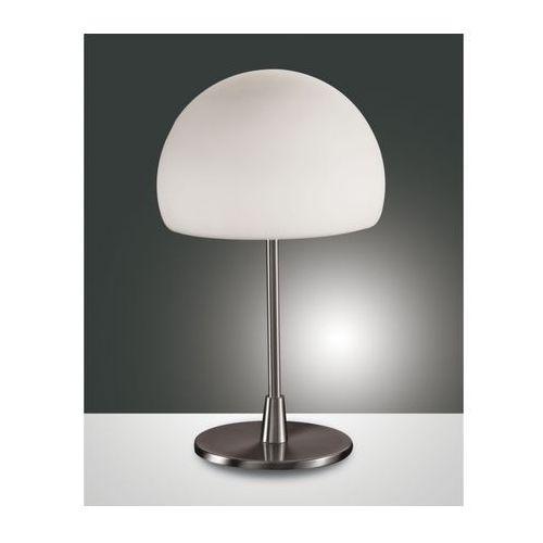 Fabas Luce GAIA BIG lampa stołowa Nikiel matowy, 1-punktowy - Nowoczesny - Obszar wewnętrzny - BIG - Czas dostawy: od 8-12 dni roboczych (8019282013754)