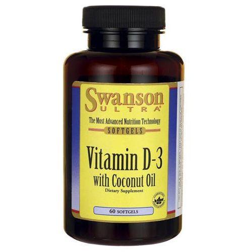 SWANSON Witamina D3 2000j.m z olejem kokosowym x 60 kapsułek