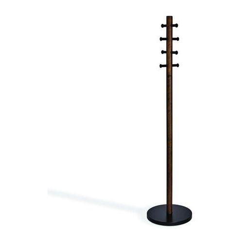 Umbra - stojak na ubrania pillar - czarny/orzech włoski - orzech włoski