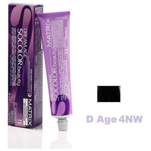 Matrix socolor beauty farba do włosów d-age 4nw naturalnie ciepły średni brąz 90 ml