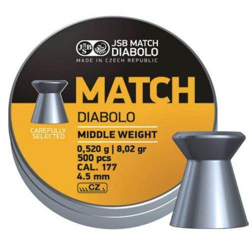 Śrut JSB Match Diabolo Middle Weight 4.52mm 500szt (000020-500) - produkt z kategorii- Amunicja do wiatrówek