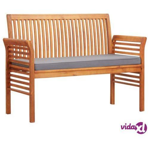 Vidaxl 2-osobowa ławka ogrodowa z poduszką, 120 cm, drewno akacjowe (8719883719184)
