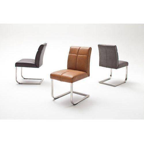 Krzesło LOU A na płozie, sześć wariantów kolorystycznych ekoskóry, kolor Krzesło