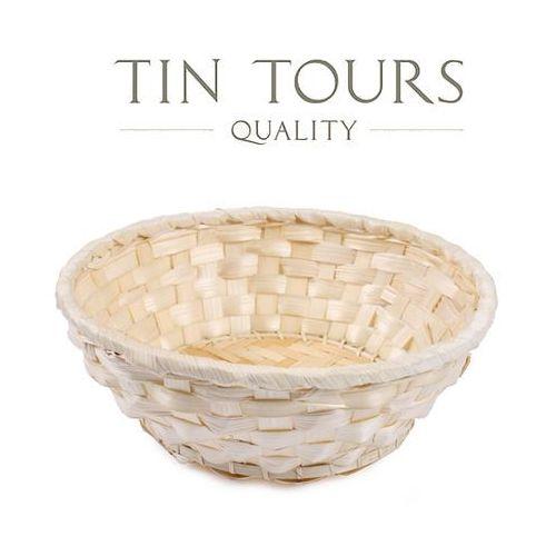 Tin tours sp.z o.o. Okrągły bambusowy koszyczek śr.20x7h cm
