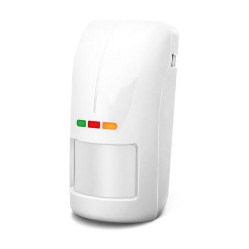 OPAL Pro Cyfrowa dualna czujka ruchu, zewnętrzna, biała, bez uchwytu Satel