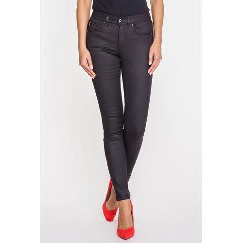 Czarne, woskowane jeansy z wąską nogawką - RJ Rocks Jeans, 1 rozmiar