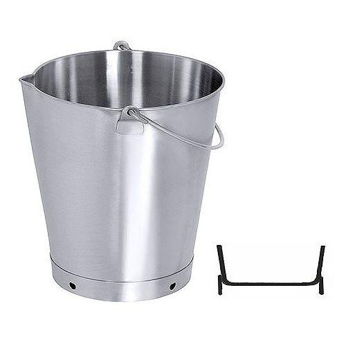 Wiadro z dzióbkiem ze stali nierdzewnej bez pokrywy, 15 l, o średnicy 300 mm | CONTACTO, 419/015