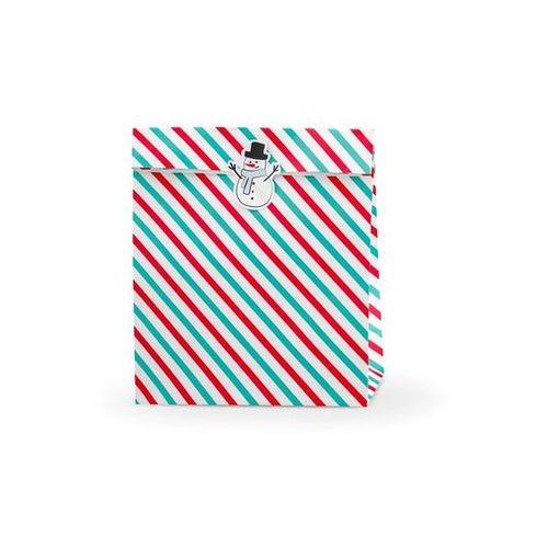 Torebka prezentowa Merry Christmas w paski - 3 szt. (5902230792432)