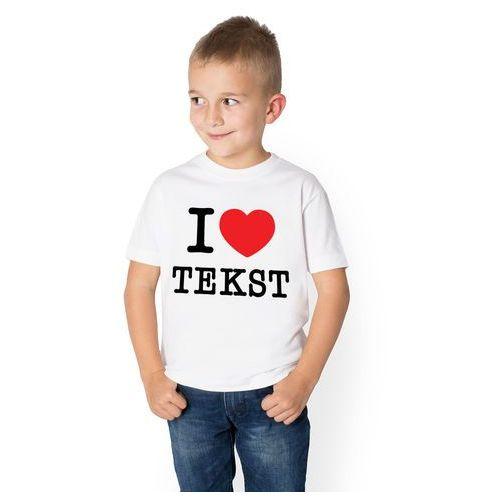 Megakoszulki Koszulka dziecięca i love + własny tekst na koszulce