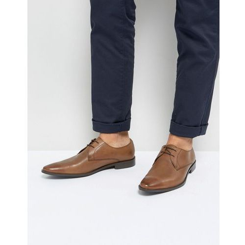 derby shoes in tan leather - tan, Frank wright